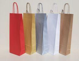 14*8*39 cm, sacose colorate pentru o sticla