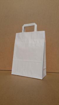 26*12*35 cm, sacosa alba cu maner banda interior